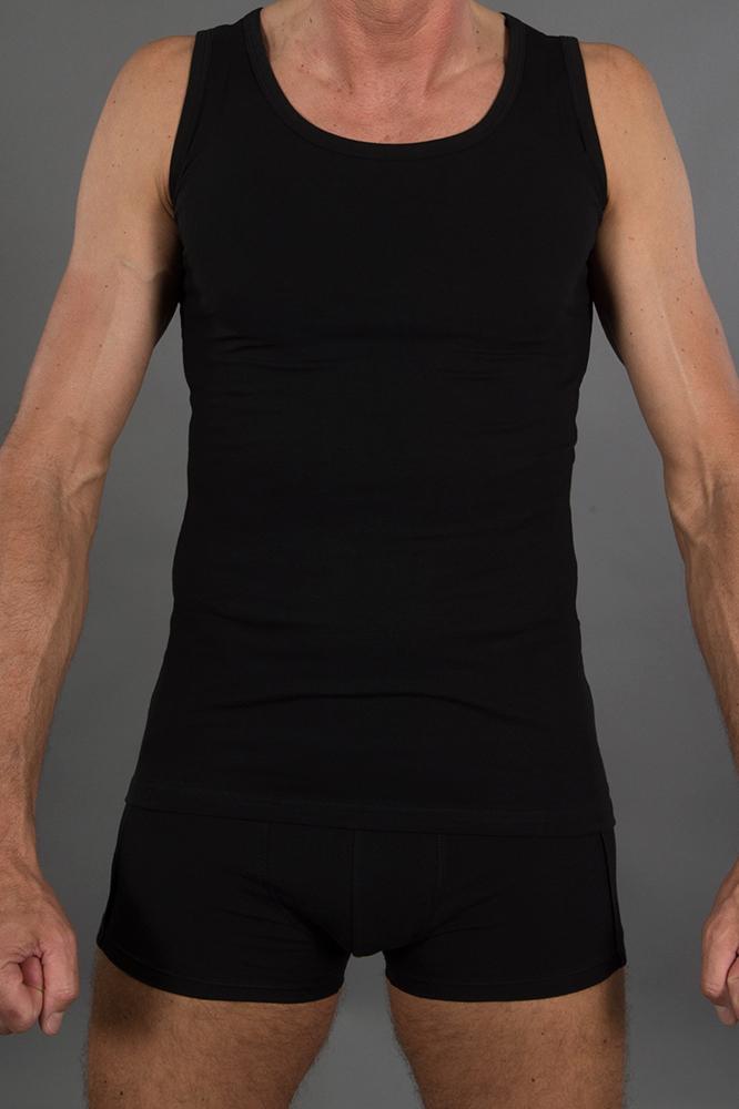 83b884798d10ef Herren Trägershirt schwarz